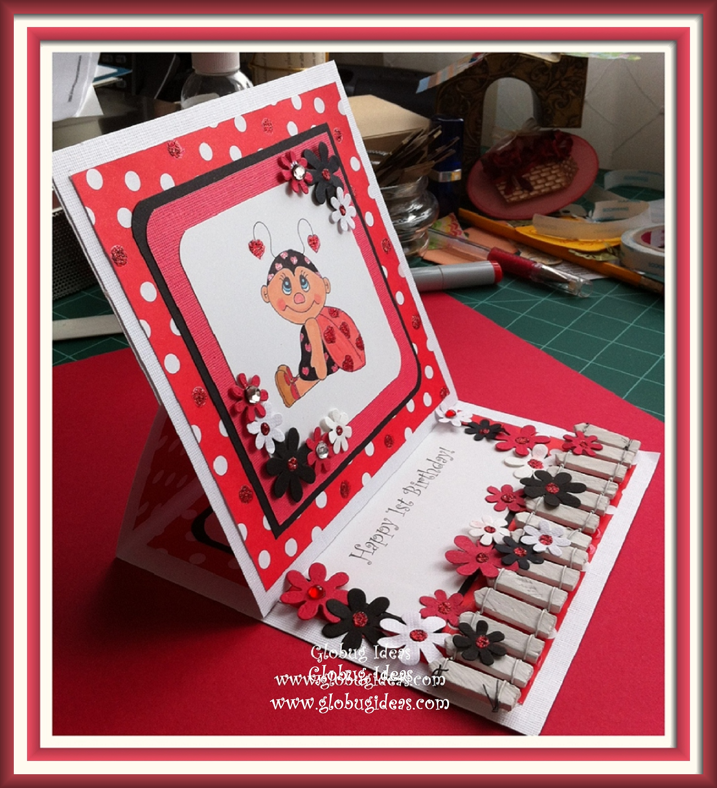 Ladybug birthday card cute Globug IdeasGlobug Ideas