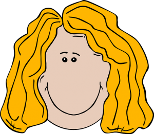 Blonde lady smiling clipart