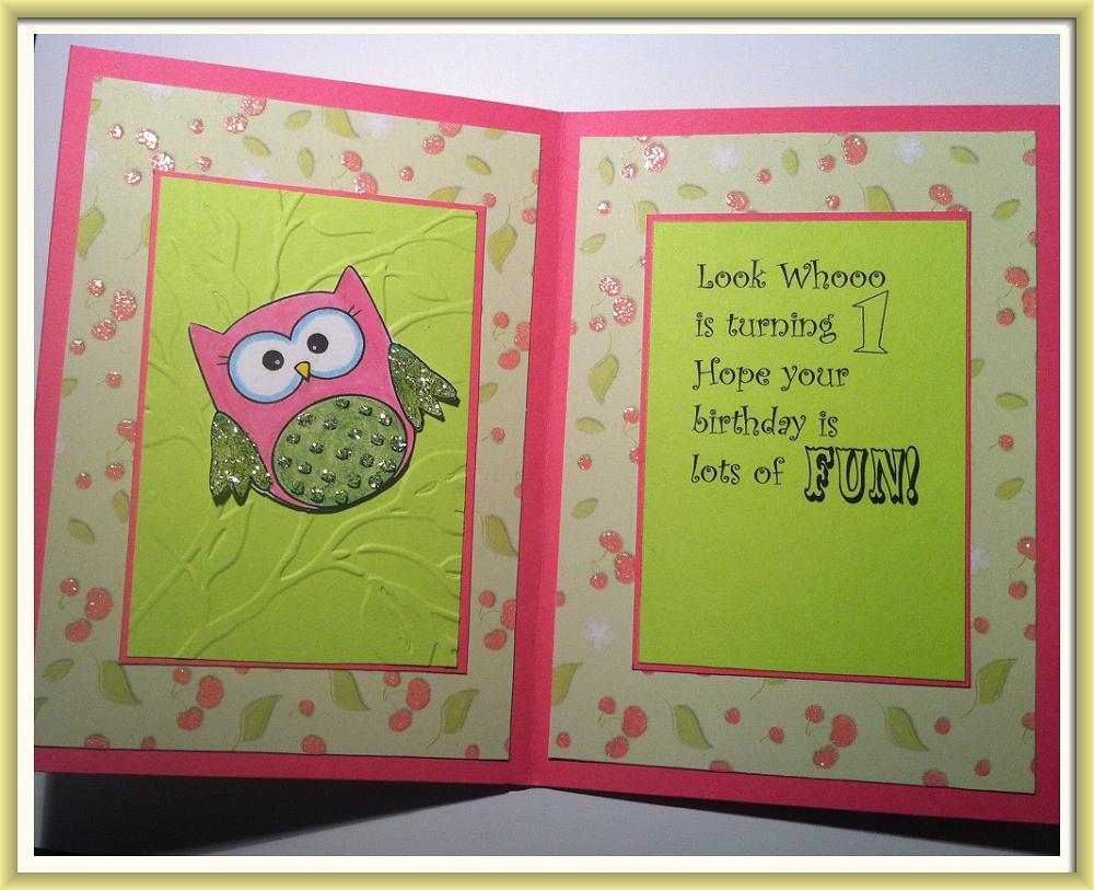 Little Grace's 1st Birthday Owl Card (1)