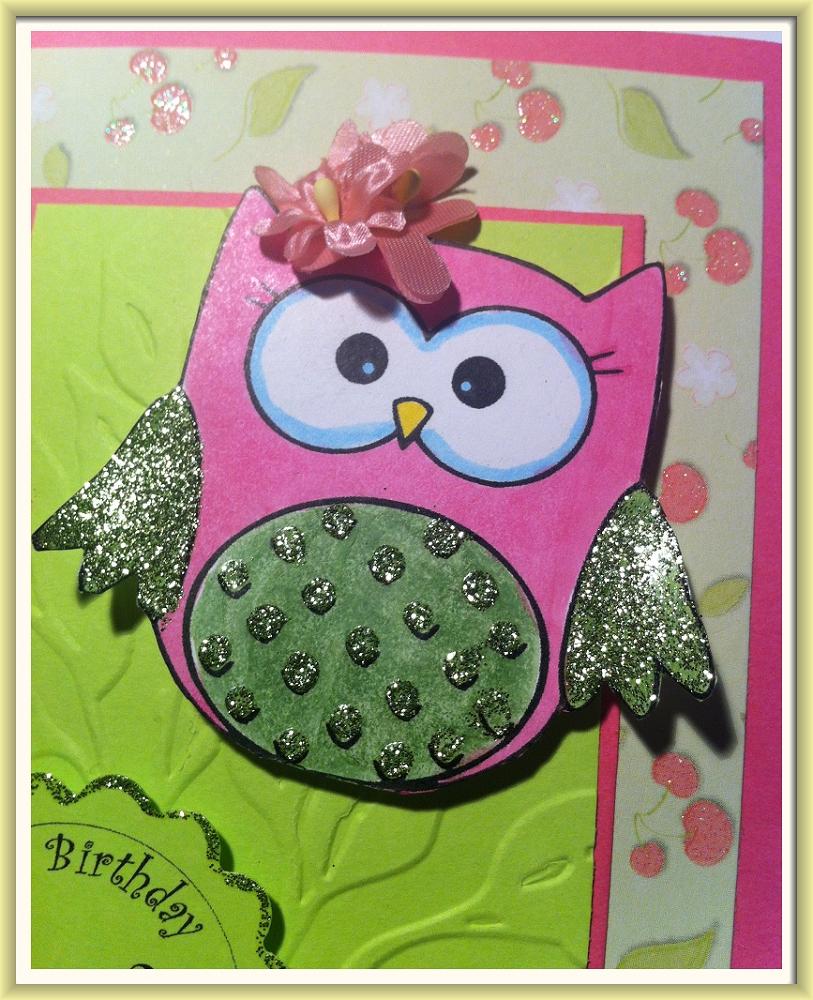 Little Grace's 1st Birthday Owl Card (4)
