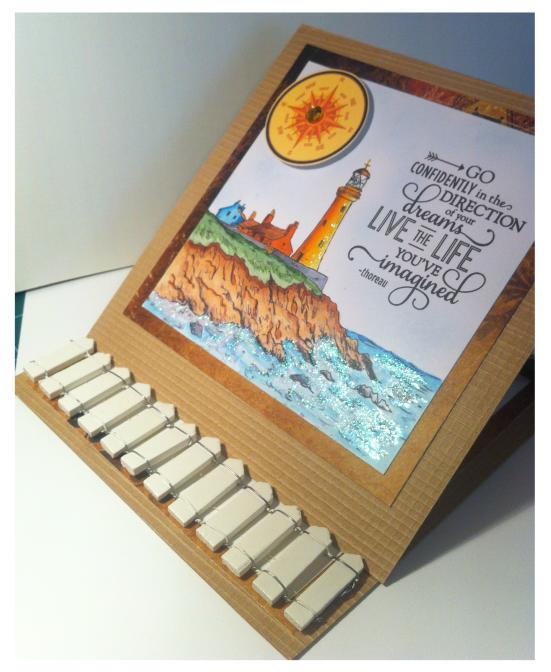 Card - open in easel position