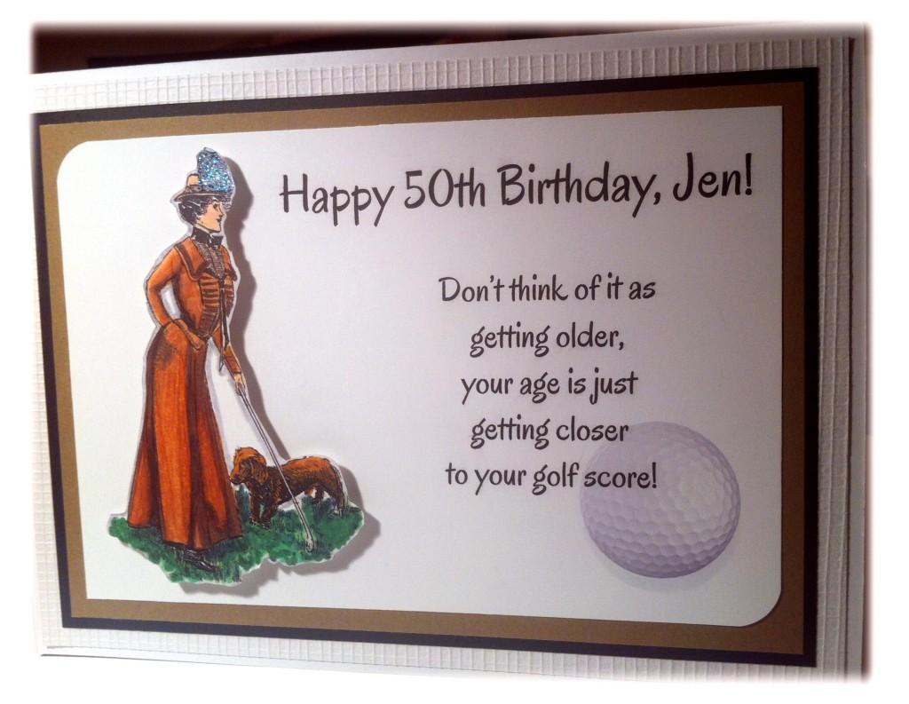 A 8th birthday card for an awesome lady golfer - Globug